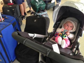 Cestujeme s dětmi - dítě v letadle